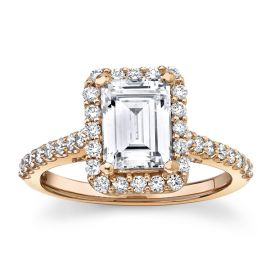 Suns and Roses 14Kt Rose Gold Diamond Engagement Ring Setting 5/8 cttw