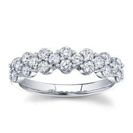Eternalle Lab-Grown 14k White Gold Diamond Wedding Band 3/4 ct. tw.