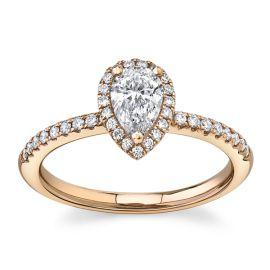 Poem 14Kt Rose Gold Diamond Engagement Ring 5/8 cttw