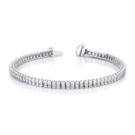 14k White Gold Bracelet 3 1/2 ct. tw.