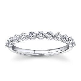 LG - Love Earth 14k White Gold Diamond Wedding Band 1/2 ct. tw.