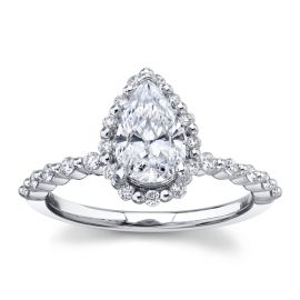 RB Signature 14Kt White Gold Diamond Engagement Ring Setting 1/4 cttw