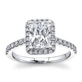 RB Signature 14k White Gold Diamond Engagement Ring Setting 1/3 ct. tw.