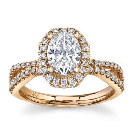 Eternalle Lab-Grown 14k Rose Gold Diamond Engagement Ring 1 1/3 ct. tw.