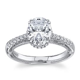 Verragio 18Kt White Gold Diamond Engagement Ring Setting 1/4 cttw