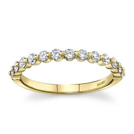 Henri Daussi 18k Yellow Gold Diamond Wedding Band 3/8 ct. tw.