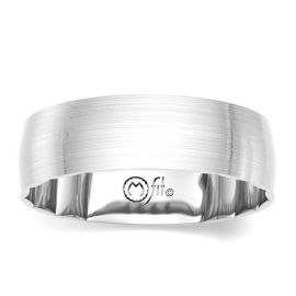 MFit 14Kt White Gold 6 mm Wedding Band