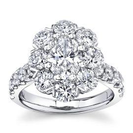 Eternalle Lab-Grown 14k White Gold Diamond Engagement Ring 3 1/4 ct. tw.