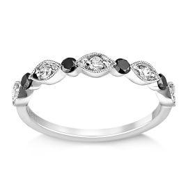 Henri Daussi 14k White Gold Diamond Wedding Band 1/3 ct. tw.
