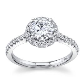 Eternalle Lab-Grown 14Kt White Gold Diamond Engagement Ring 1 1/4 cttw