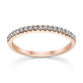 14k Rose Gold Diamond Wedding Band 1/5 ct. tw.