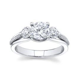 Simon G. Platinum Diamond Engagement Ring Setting 5/8 ct. tw.