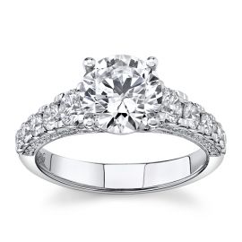 Simon G. 18k White Gold Diamond Engagement Ring Setting 7/8 ct. tw.