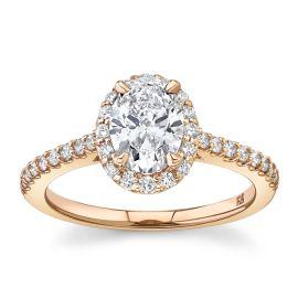 Eternalle Lab-Grown 14Kt Rose Gold Diamond Engagement Ring 1 1/4 cttw