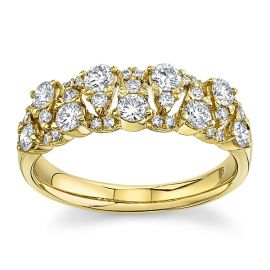 14Kt Yellow Gold Diamond Wedding Band 3/4 cttw