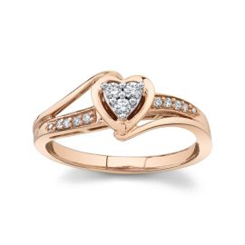 Cherish 10k Rose Gold Promise Ring .08 ct. tw.