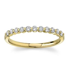 Divine 18Kt Yellow Gold Diamond Wedding Band 1/4 cttw