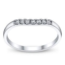 14k White Gold Diamond Wedding Ring 1/8 ct. tw.