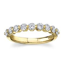 Divine 18Kt Yellow Gold Diamond Wedding Band 3/4 cttw