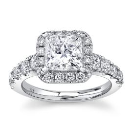 Eternalle Lab-Grown 14Kt White Gold Diamond Engagement Ring 3 cttw