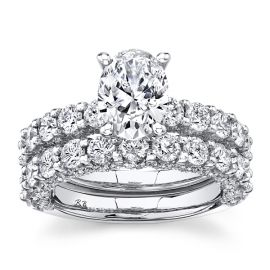 Eternalle Lab-Grown 14k White Gold Diamond Wedding Set 4 ct. tw.