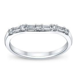 14k White Gold Diamond Wedding Ring 1/4 ct. tw.