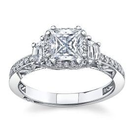 Tacori Platinum Diamond Engagement Ring Setting 5/8 cttw