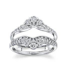 14k White Gold Solitaire Guard 3/4 ct. tw.