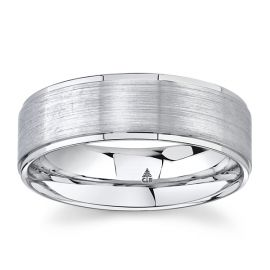Christian Bauer 14k White Gold 7 mm Wedding Band
