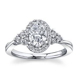 Poem 14Kt White Gold Diamond Engagement Ring 1 1/4 cttw