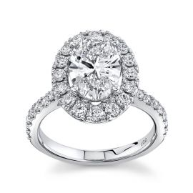 Eternalle Lab-Grown 14k White Gold Diamond Engagement Ring 2 1/2 ctw