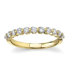Divine 18k Yellow Gold Diamond Wedding Band 1/2 ct. tw.
