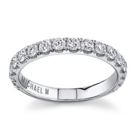 Michael M. 18Kt White Gold Diamond Wedding Band 3/4 cttw