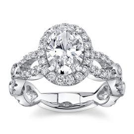 Eternalle Lab-Grown 14Kt White Gold Diamond Engagement Ring 2 1/3 cttw