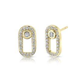 Michael M. 14k Yellow Gold Earrings 1/3 ct. tw.