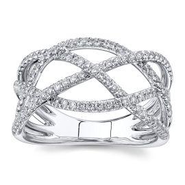 Gabriel & Co. 14k White Gold Diamond Wedding Band 1/2 ct. tw.