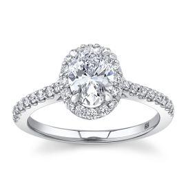 Eternalle Lab-Grown 14Kt White Gold Diamond Engagement Ring 1 1/4 cttw