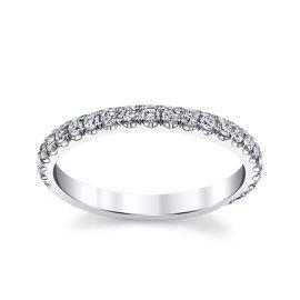 Michael M. 18k White Gold Diamond Wedding Band 3/8 ct. tw.