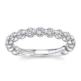 Verragio 14k White Gold Diamond Wedding Band 7/8 ct. tw.