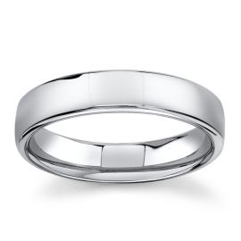 14Kt White Gold 5 mm Wedding Band