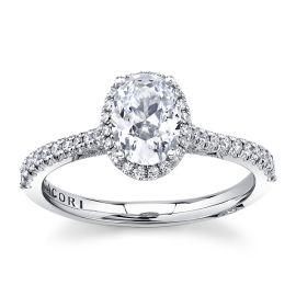 Tacori Platinum Diamond Engagement Ring Setting 1/3 ct. tw.