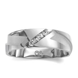 MFit 14Kt White Gold Diamond Wedding Band 1/4 cttw