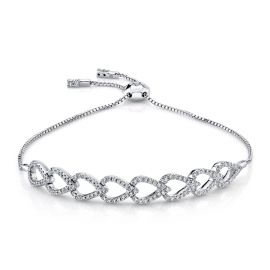 14k White Gold Bracelet 1/2 ct. tw.