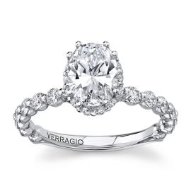 Verragio 14Kt White Gold Diamond Engagement Ring Setting 5/8 cttw