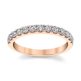 14k Rose Gold Diamond Wedding Band 1/2 ct. tw.