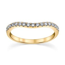 14k Yellow Gold Diamond Wedding Band 1/5 ct. tw.