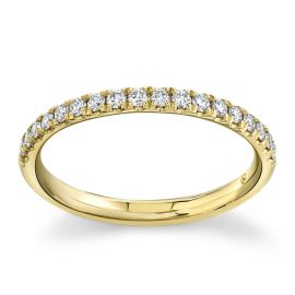 Suns and Roses 14Kt Yellow Gold Diamond Wedding Band 1/5 cttw