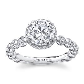 Verragio 14Kt White Gold Diamond Engagement Ring Setting 1 cttw