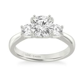 Love Earth 14Kt White Gold Diamond Engagement Ring Setting 1/2 ct. tw