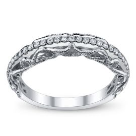 RB Signature 14k White Gold Diamond Wedding Ring 1/5 ct. tw.